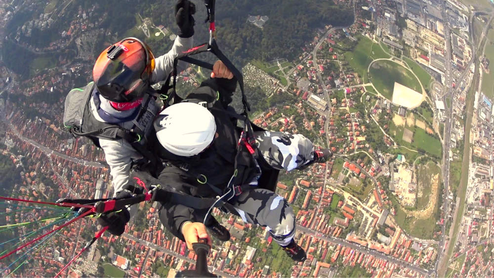 fly above Brasov