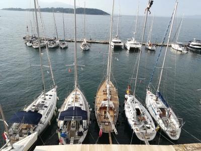 Sailing in Corfu